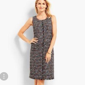 Talbots Fringe Festive Tweed Sheath dress size 14